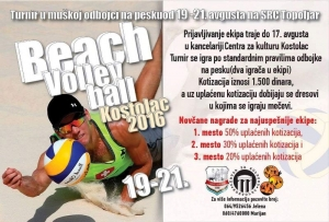 """BEACH VOLLEY"" на СРЦ ""ТОПОЉАР"" од 19. до 21. августа"